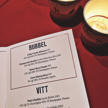 Bubbly on the menu