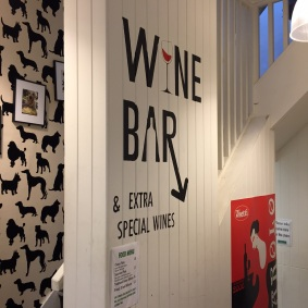 Wine bar downstairs
