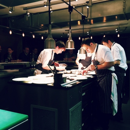 The chefs at work at Kitchen Table