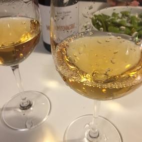 Some wine and edamame