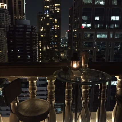 Rooftop bar at our hotel, The Muse