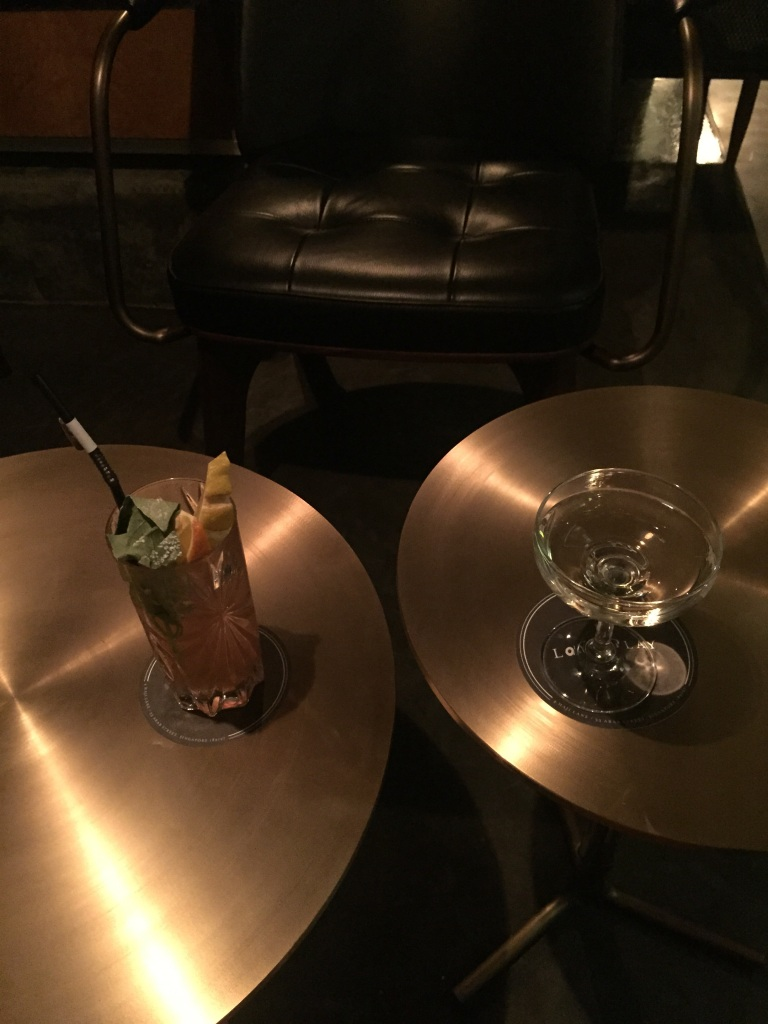 Table with drinks