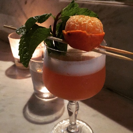Dark rum with tangerine