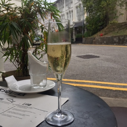 Glass of Cava at Esquina