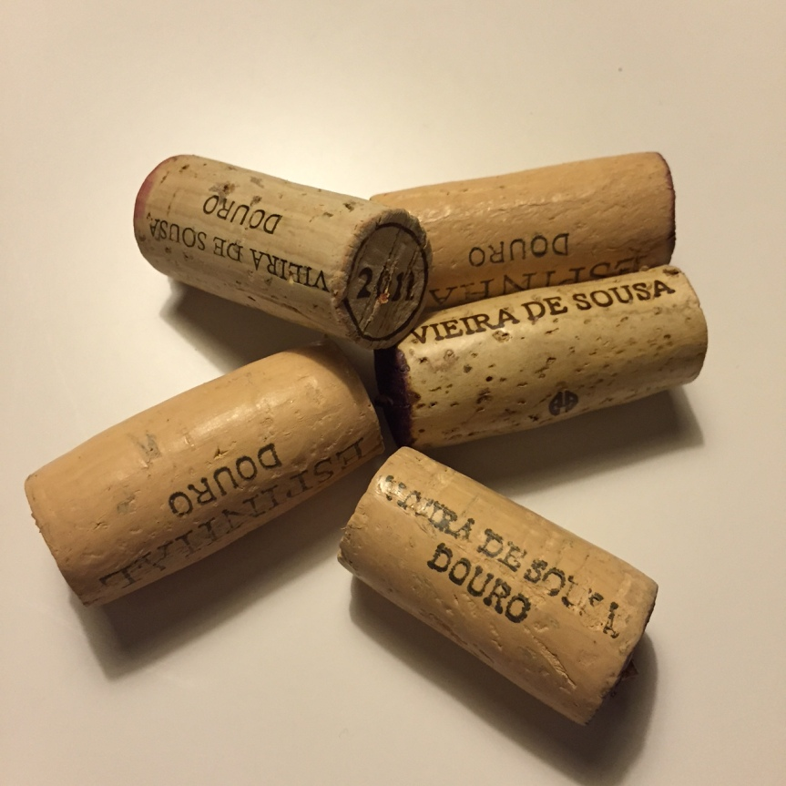 Corks from tasting