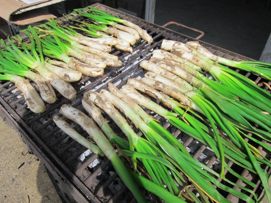 Calcotadas on the grill