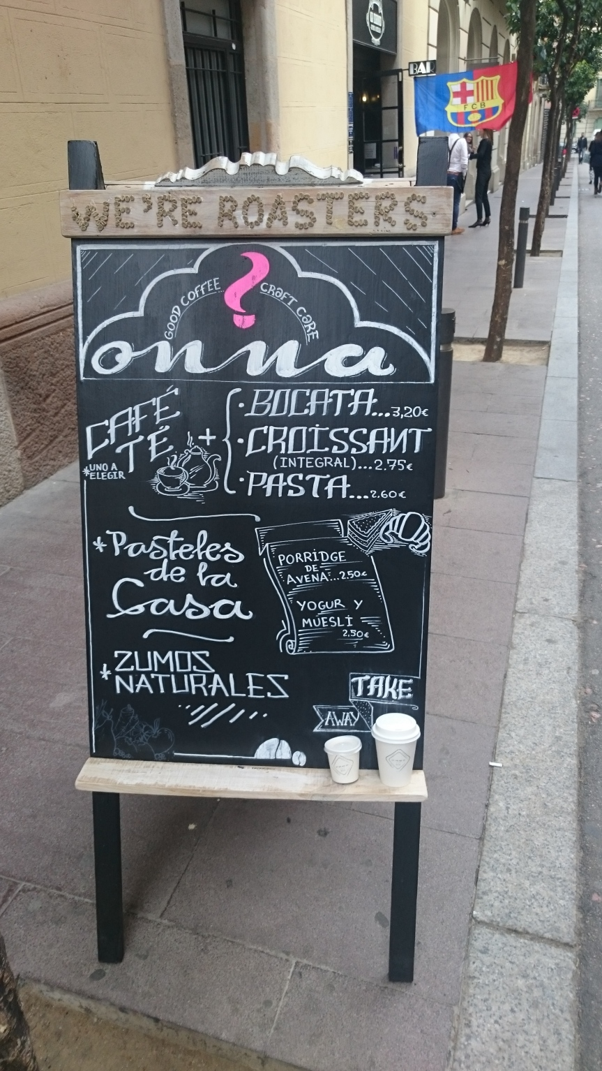 Coffee bar review: Onna Café, Barcelona