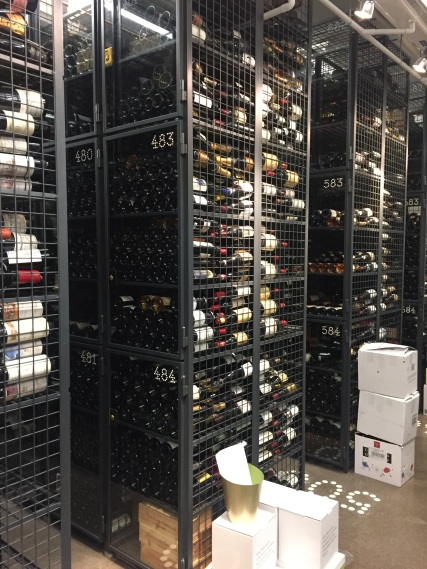 The wine cellar at Magnusson