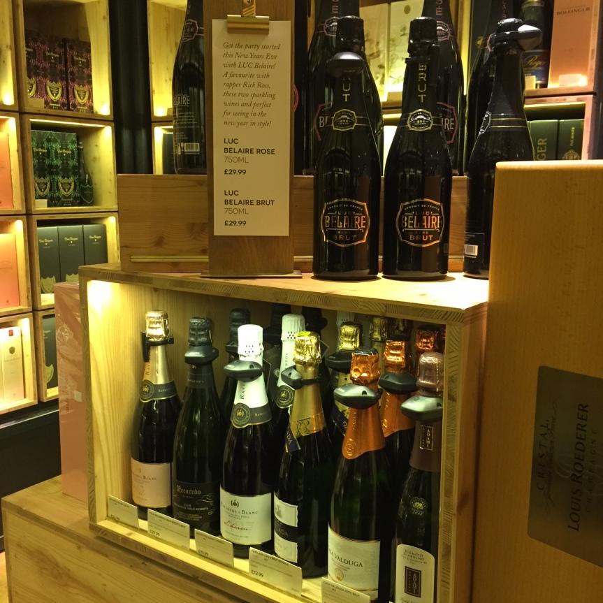 Shopping wine at Selfridges,London