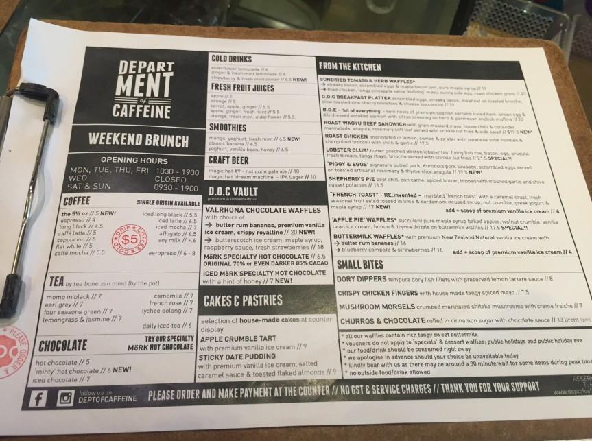 Coffee Bar Review: Department of Caffeine,Singapore