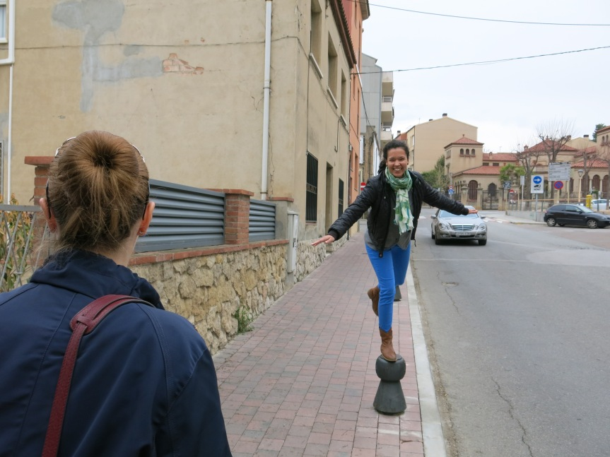 On the streets of Sant Sadurni