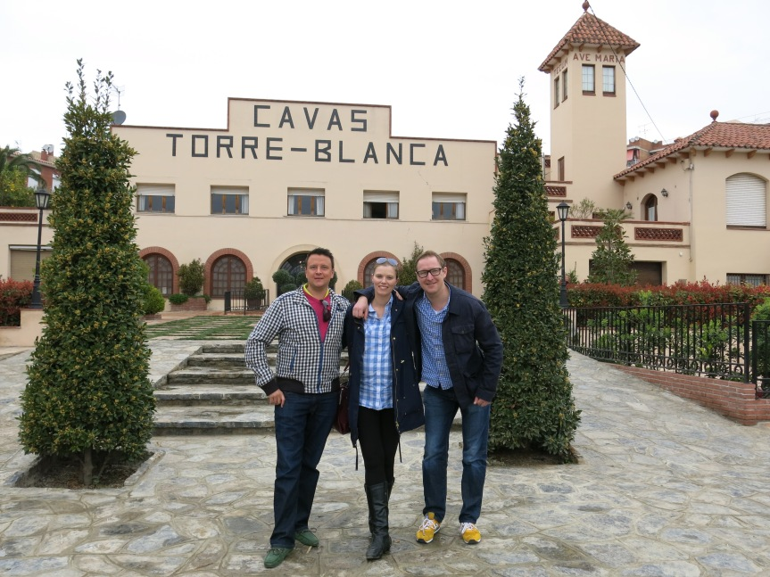 Me, Aki and Sami in front of Torre-Blanca