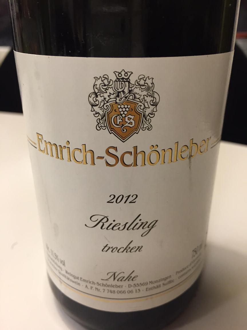 Wine Review: Emrich-Schönleber Riesling Nahe2012