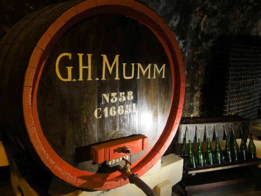 Touring at the G.H.Mumm cellears