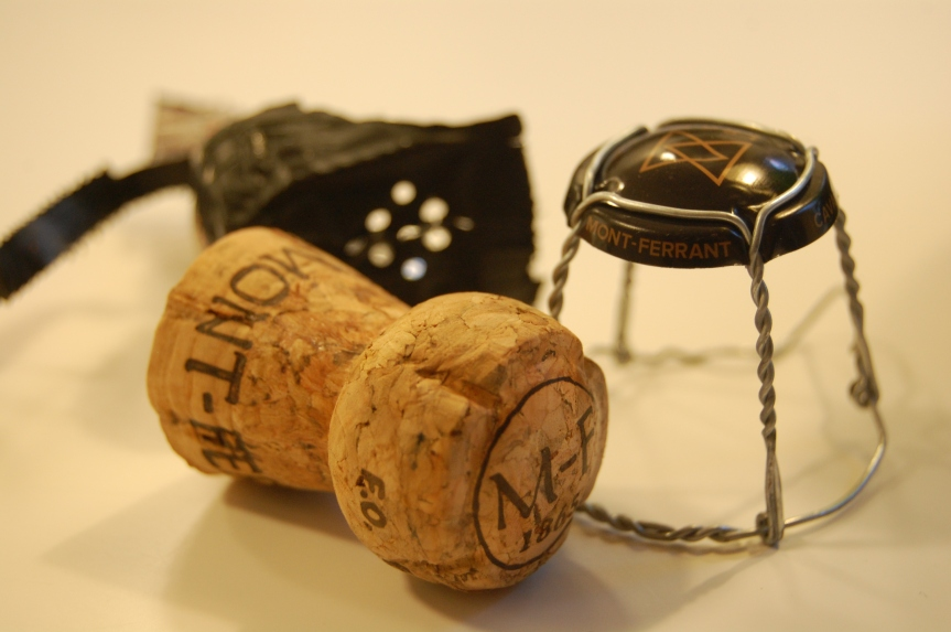 My collectibles, cork and metal cap.