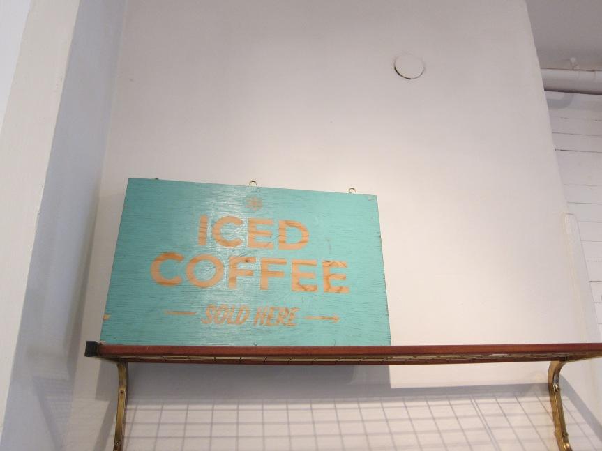 Iced coffee sign