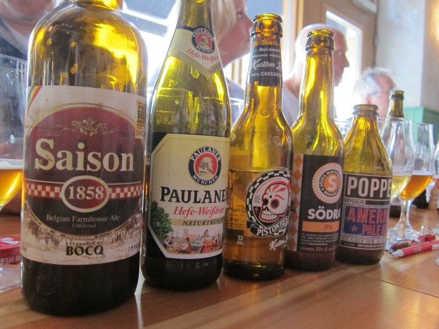 Beer selection at Cafe Proviant