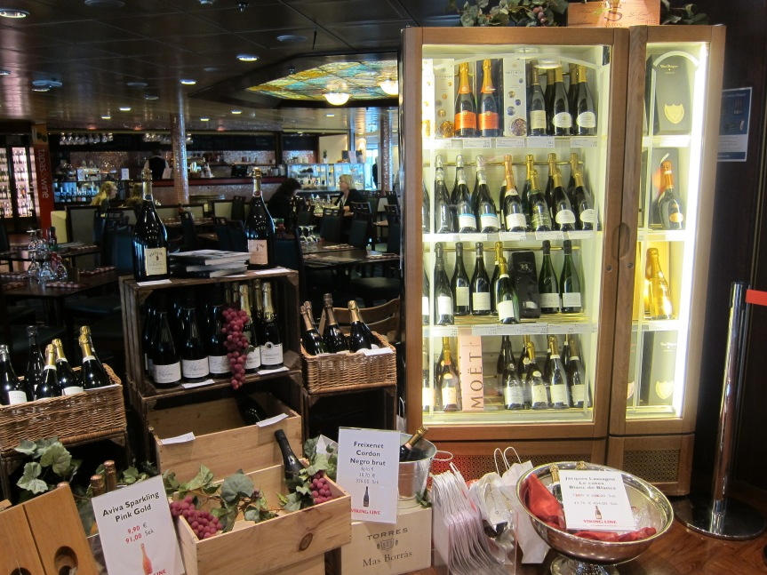 The fine wines shop of Viking Amorella