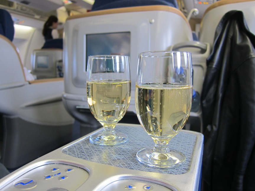 Henriot welcoming us onboard the flight