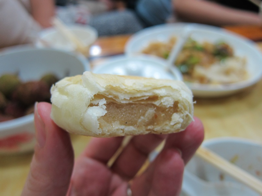 Jianping pastry with pepper and sesame filling