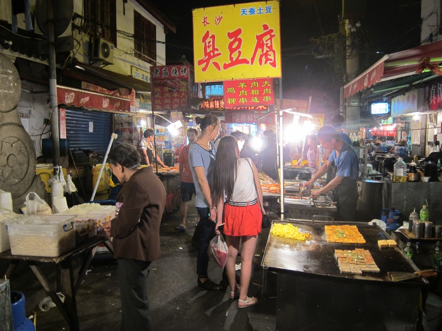 At the Shanghai Night Market