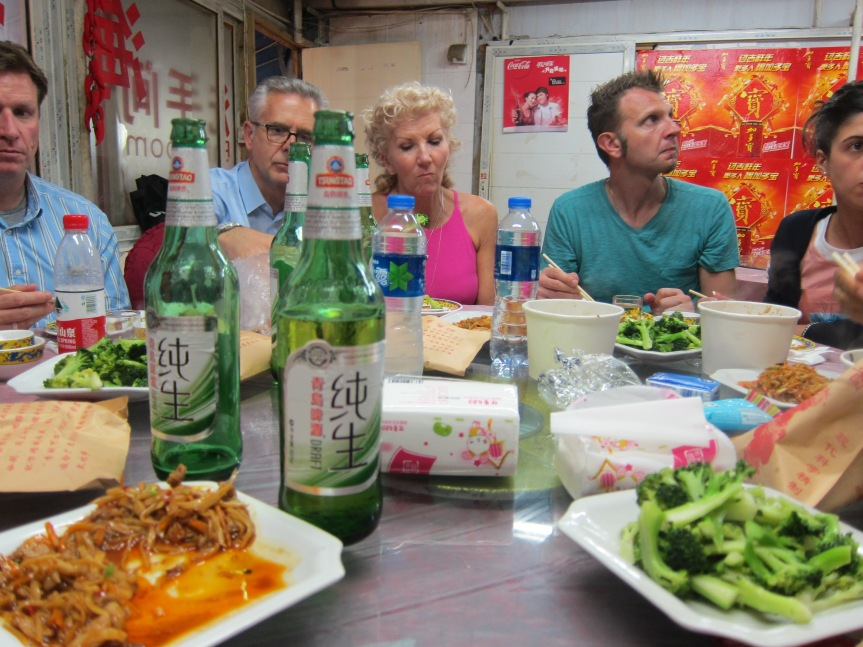 Tsingtao Beer with Chinese food is a perfect combination