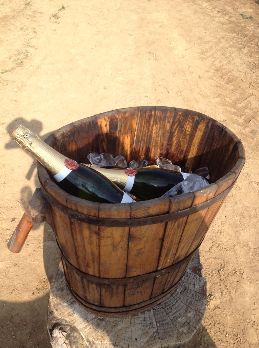 Peret-Fuster Cava served after the festival