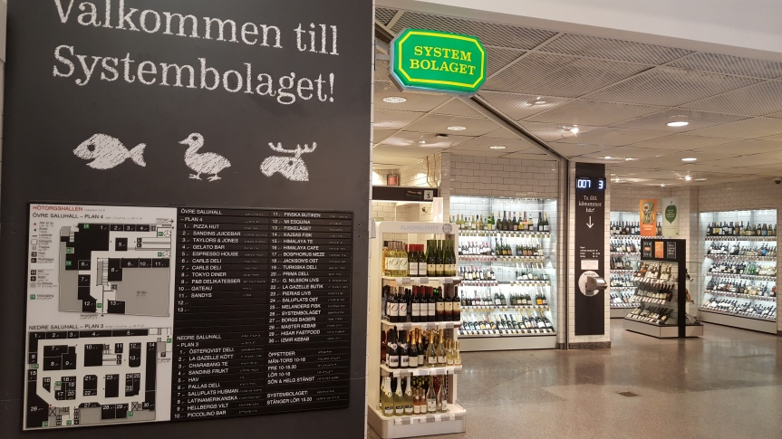 Pick up a bottle for the evening from Systembolaget