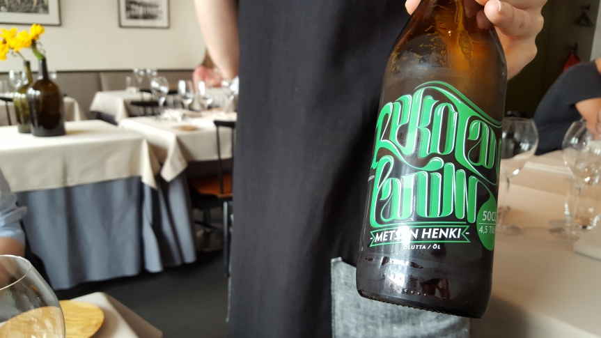 Micro breweries are popping up in Helsinki. This little brewer had found its way to Michelin-starred restaurant Ask