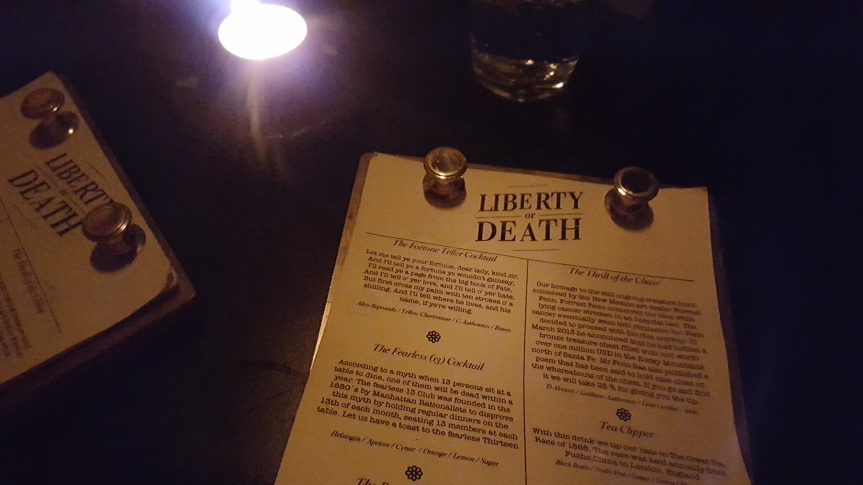 Great cocktails at Liberty or Death, can't believe this was in Helsinki