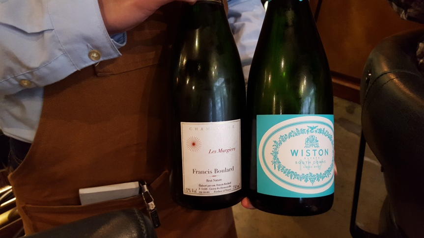 Awesome English sparkling and Francis Boulard Champagne