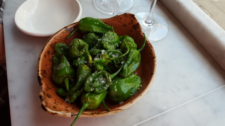 A trip to London would be incomplete without a pit-stop at Joses. Snacking on  Padron peppers.