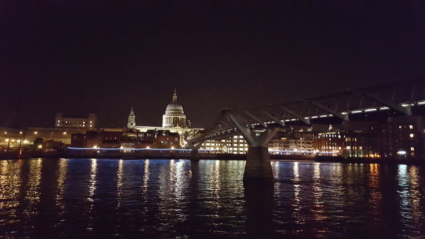 An evening walk on the South Bank