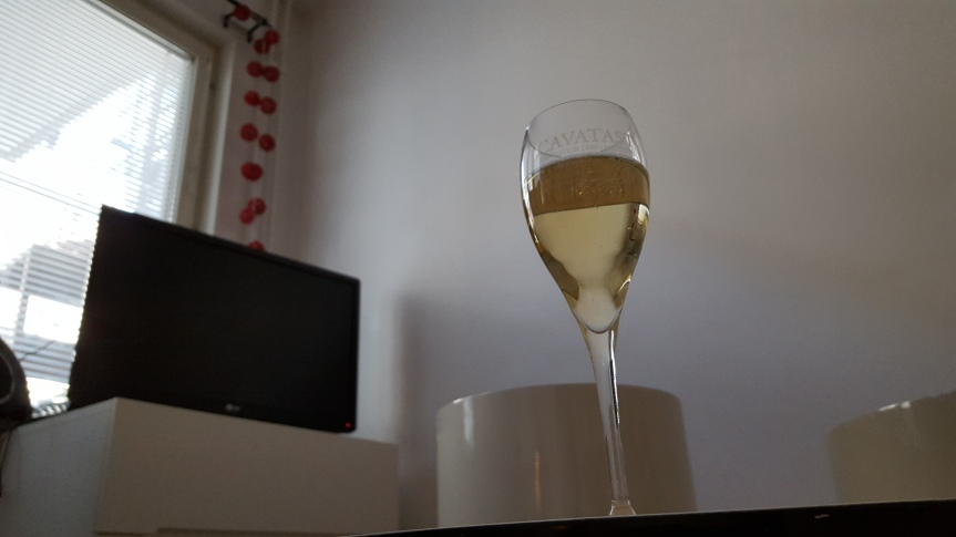 Guillem Carol Extra Brut Cava. An excellent choice for Saturday evening