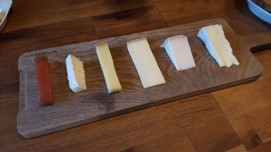 The cheese selection at Matkonsulatet can be shared by four