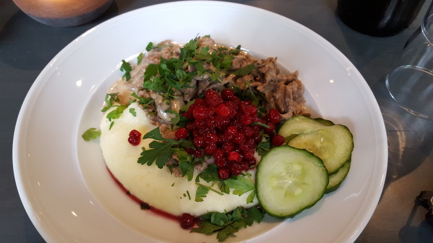 A traditional Swedish dish at lunch restaurant Asplund's