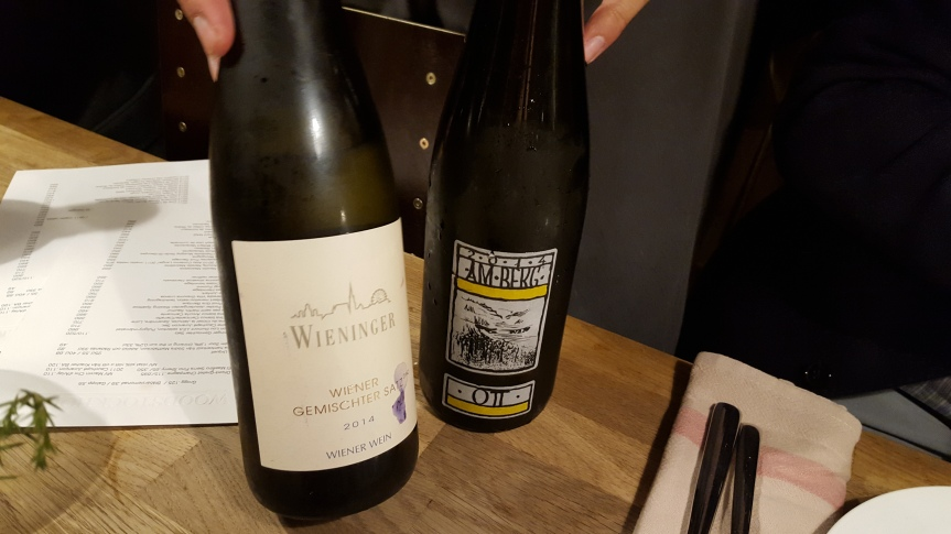 Austrian wines with the first course