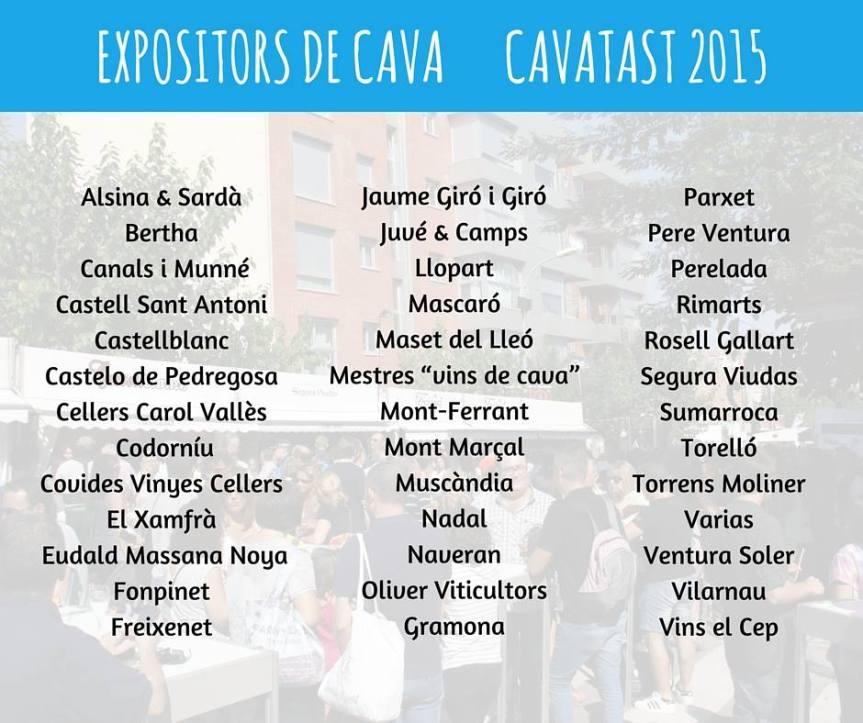 The producers represented at Cavatast Photo: Turisme de Sant Sadurni d'Anoia