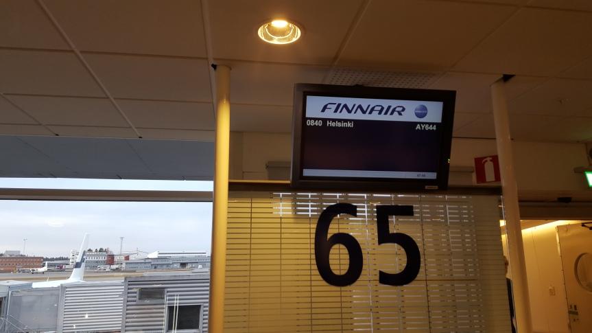 The journey starting at Arlanda airport