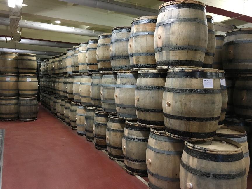 Bollinger being aged in barrels