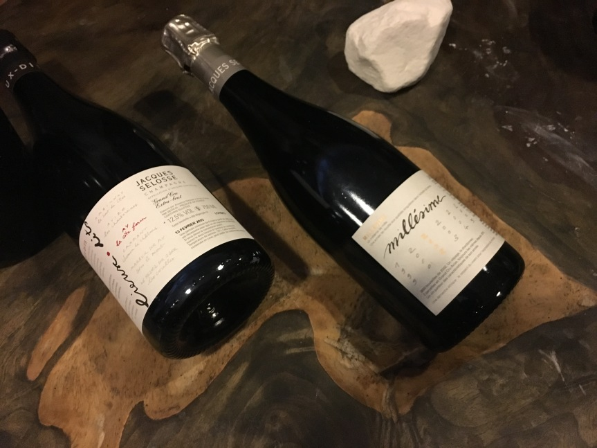 Tasting wines: Millessime 2005 and 2002