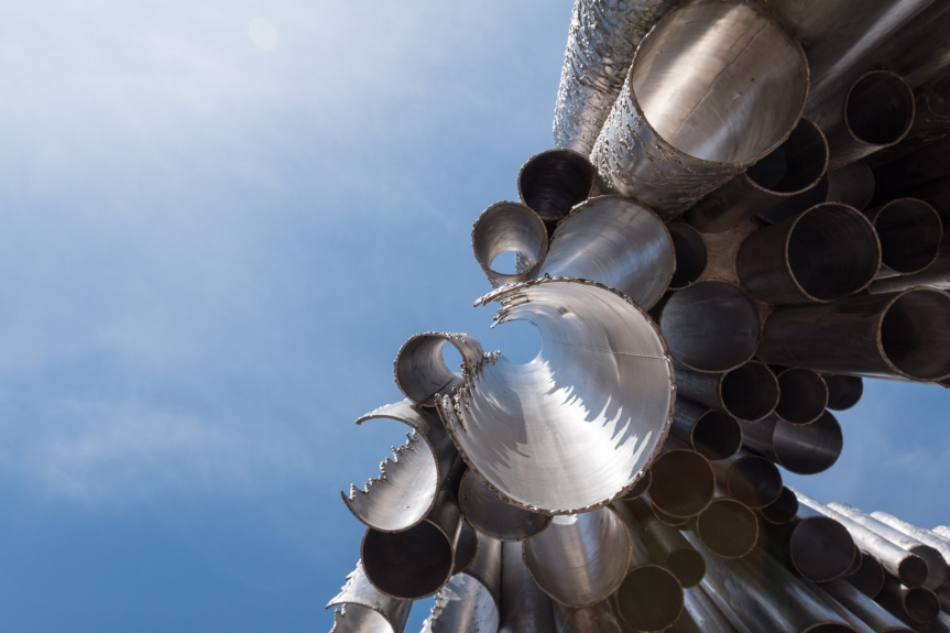 Picture of the SIbelius monument taken from below