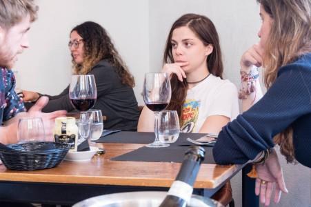 Lunch in Lisbon includes a bottle of wine. Photo: Soile Vauhkonen